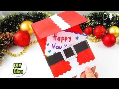 DIY New Year Gift Card Santa
