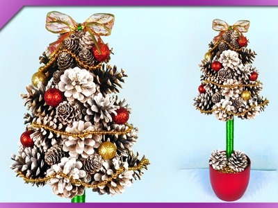 DIY Pine cone Christmas tree (ENG Subtitles) - Speed up #278