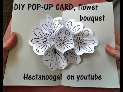 DIY POP UP CARD, bouquet of flowers, all occasion greeting card, art teacher card, everyday card