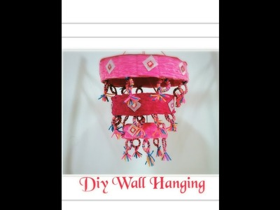 Diy Simple Wall hanging out of cardboard, yarn