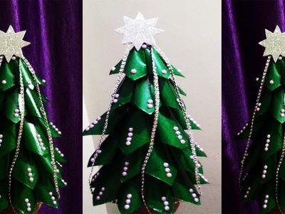 DIY tabletop paper Christmas tree