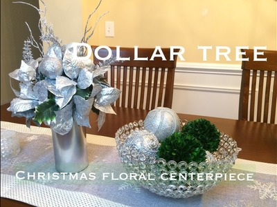 Dollar Tree Christmas Centerpiece DIY VD#1