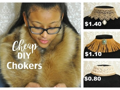 Dollar Tree DIY Chokers and How To Style Them | Cheap Gifts