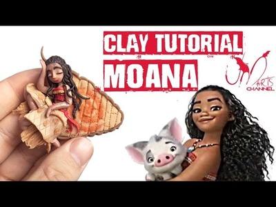 How to make Moana.Vaiana doll with Clay - Disney Princess doll - Tutorial DIY
