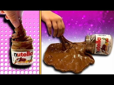 How to make Nutella Slime DIY slime recipe you can eat! No glue