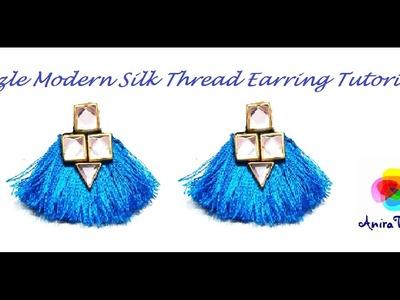 How to make Silk thread Tassle Earring Modern Earring - Easy DIY Tutorial