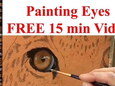 How to paint eyes Lesson. FULL demo. tutorial by Jason Morgan
