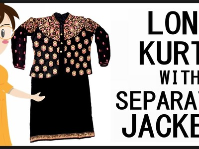 Long Kurti With Separate Jacket Cutting And Stitching | DIY - Tailoring With Usha