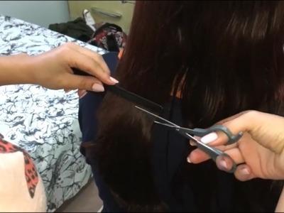 Long To Short haircut at Home   DIY   Salon Tutorial