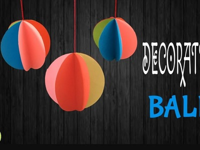 "Tutorial to make ""Hanging ball decoration"" for Christmas tree - DIY 