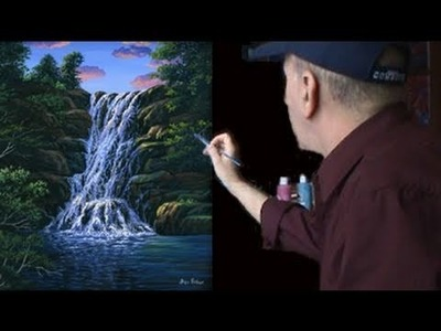 Video 24 Complete. How to Paint Waterfall Acrylics Art Painting Class
