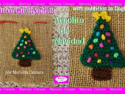 Arbolito de Navidad.Christmas Tree Crochet por Maricita Colours Subtitles in English