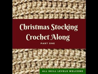 Christmas Stocking Crochet Along, Part 1