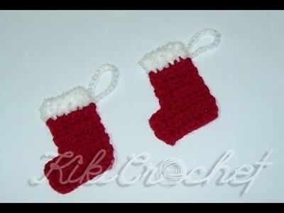 Crochet Christmas Ornaments: Mini Stocking
