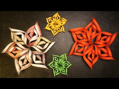 DIY 3D SnowFlakes for Christmas Decoration
