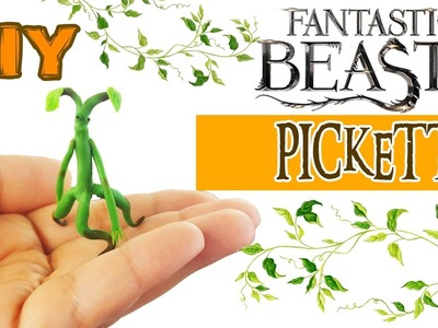 DIY FANTASTIC BEASTS AND WHERE TO FIND THEM PICKETT BOWTRUCKLE Polymer Clay Tutorial How to make diy