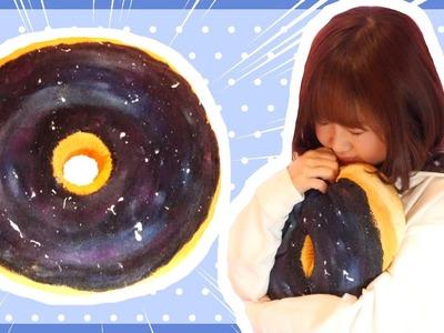 DIY No-sew Galaxy Donut Cushion Tutorial