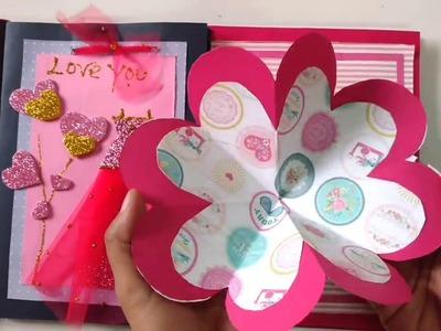 DIY Scrapbook Album For Valentine's Day Making Tutorial | How To | Craftlas