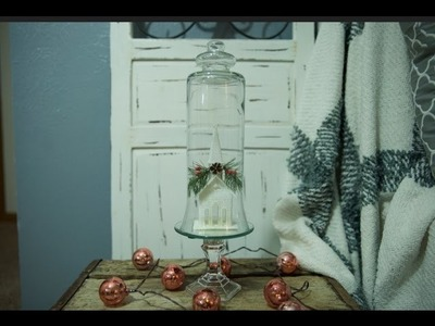 Dollar Tree Christmas DIY Apothecary. Cloche Jar | *all* supplies from dollar tree!