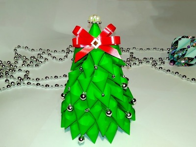 Easy DIY Christmas tree - 3 ideas - Paper Christmas tree. Christmas Decoration