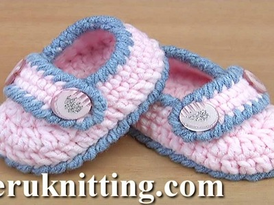 Easy to Crochet  Baby Booties Tutorial 130