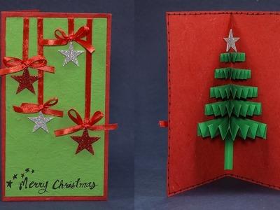 Handmade Pop Up Christmas Greeting Card - How to DIY Tutorial