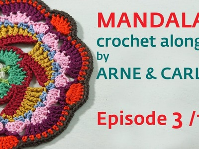 How to Crochet a Mandala. Part 3 by ARNE & CARLOS