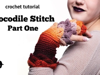 How to Crochet Tutorial: Crocodile Stitch, Part 1