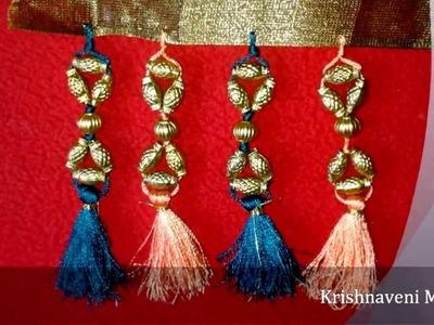 How to make Saree Tassel\Kuchu with Beads - Design 3