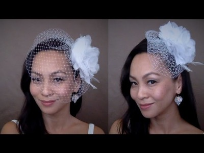 "How to make the CHRISTINE 9"" Birdcage Veil : Two Ways to Style {New Version}"