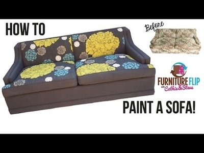 How To Paint a Sofa!