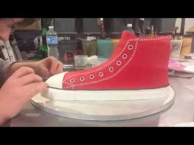 Making of a Converse Shoe Cake Timelapse