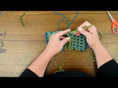 Red Heart Crochet Along: Around Town Ruana Week Three