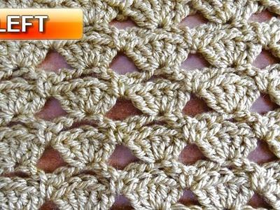 Shells in a Row - Left Handed Crochet Tutorial