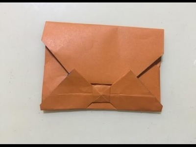 An envelope with bowknot origami | how to make an envelope