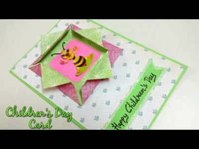 Children's Day Greeting Card Making Idea | How To | CraftLas