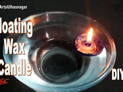 DIY Floating Wax Candle   How to make with  Gems Ball   JK Arts 1088
