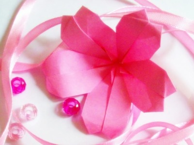 EASY origami flower instructions - How to make origami flowers cherry and edelweiss