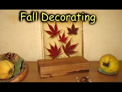 Fall Decorating - Epoxy Resin Casting. How-To
