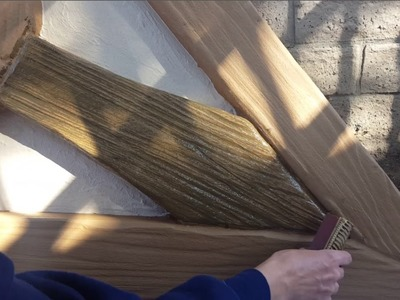 How To Create & Paint Faux Wood Grain - Witch Cottage Facade
