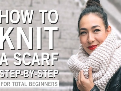 How To Knit A Scarf For Beginners Step By Step With Two Needles