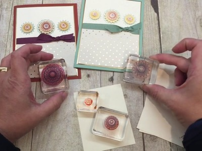 How to make 2 Medallion cards with Stampin Up's Paisleys and Posies