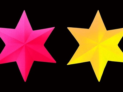 How to Make A Beautiful and Simple 3D paper Star (Very Easy Christmas Crafts) : HD