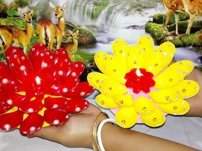 How to make a beautiful DIYA by plastic spoon.christmas decorations ideas