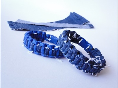 """How to Make a Cobra """"Ripped Jeans"""" Thin Line Paracord Survival Bracelet (DIY)"""