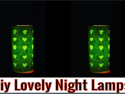How to Make a lovely Night Lamp at Home   Fancy Night Lamp