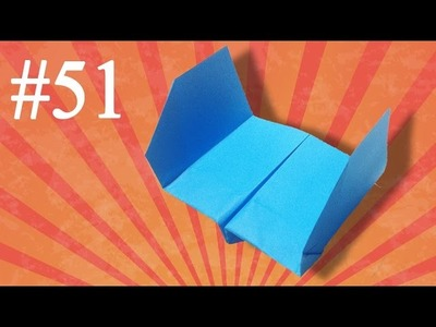 How to make a paper airplane that fly far #51 Easy Origami Avión de papel
