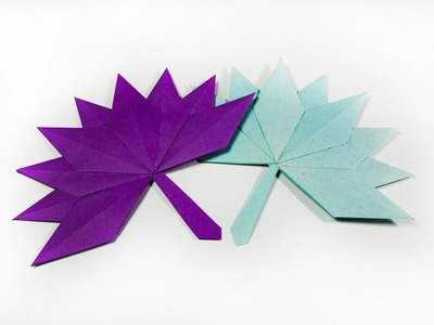 How to make a paper Autumn Leaf