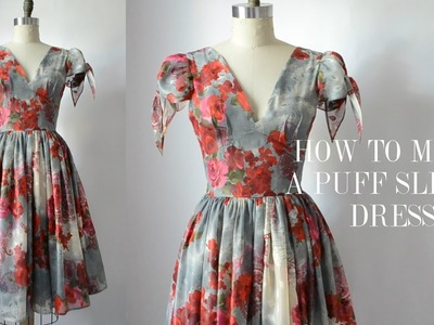 How To Make A Puff Tie Sleeve Cocktail Dress