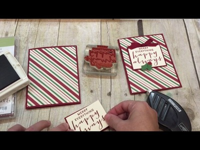 How to make a simple Christmas Card with DSP and the Holly Berry Punches